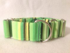 Fiesta Stripe Green Martingale or Quick by DogCollarsByDesign, $11.00