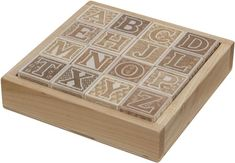 Eco-friendly non-toxic toys. Alphabet letters in tray. Made in USA.