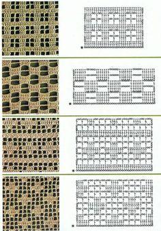 Filet crochet patterns for crochet curtains by Rosella Enif Filet Crochet Charts, Crochet Diagram, Crochet Stitches Patterns, Crochet Motif, Knitting Stitches, Crochet Doilies, Crochet Lace, Doily Rug, Manta Crochet