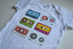 Make your own custom baby clothes and funky onesies. How to turn a plain ol' white onesie or baby tee shirt into custom baby clothes. Personalize baby clothes, blankets, diaper bags and more.