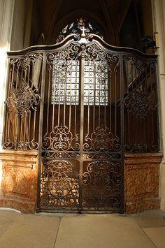 Ornate iron gates in Paris church