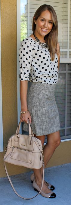 I adore this gray skirt. I just wish it had some color!