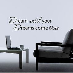 This would look great at the wall at the head of my bed.  Words Dream Your Dream Wall Stickers – DKK kr. 93