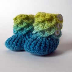 Crocodile Stitch Crochet Baby Booties Handmade by IsakissesCrochet, $25.00