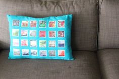 No more stashing photos in a pile. Print them on your pillow and you'll see them every day. This sewing project is super simple. It might take longer to choose your photos than to stitch the pillow! Get the instructions on www.weallsew.com [Promotional Pin] [Promotional Pin]