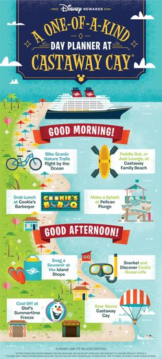 Your Guide to a One-of-a-Kind Day at Castaway Cay Need some major fun in the sun? Float on by Castaway Cay with Disney Cruise Line for your next summer vacation destination. These insider tips will he Disney Vacation Surprise, Disney Dream Cruise, Disney Cruise Tips, Disney World Vacation, Disney Vacations, Disney Trips, Disney Travel, Disney Rewards, Disney Visa