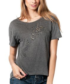This All the Above Clothing Dark Gray Stars Tee - Women by All the Above Clothing is perfect! #zulilyfinds