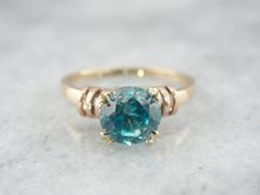 Outstanding Teal Blue Natural Zircon in Sweet by MSJewelers, $585.00
