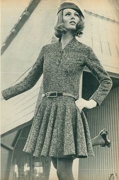 French Elle, February 1968, dress by Lanvin
