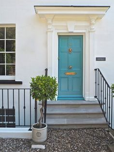 DIY Starter Kit: The Basic Tools That You Need To Own — MELANIE LISSACK INTERIORS Teal Front Doors, Front Door Colors, Pink Paint Colors, Trending Paint Colors, Paint Your House, Ikea Billy Bookcase, Paint Brands, Room Planning, Parisian Style