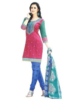#Buy Cotton Dresses Online.  #pure Cotton Dress Material ONLY for 799/-.  Shop here: http://www.ethnicqueen.com/eq/dressmaterials