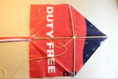 How to make a Kite out of doweling and a plastic bag. Perfect and economical for camp!