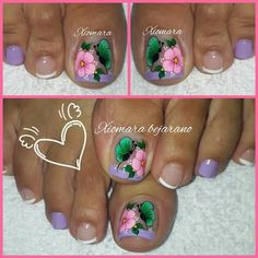 Flower Nail Designs, Flower Nails, Manicure, Hair Beauty, Make Up, Designed Nails, Pretty Nails, Work Nails, Sour Cream