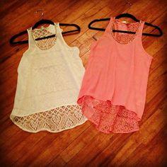 Lace Back Tanks❤