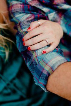 romantic outdoor engagement session ring shot 275x412 Janelle + Dannys Sweet & Sentimental Engagement Session