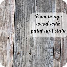 How to Age Wood With Paint and Stain - Details on how I aged pallet wood using paint and stain to achieve that reclaimed wood look. I used all products I alread… Weathered Wood, Barn Wood, Bois Diy, Reclaimed Wood Projects, Reclaimed Lumber, Diy Inspiration, Aging Wood, Paint Stain, Wood Stain