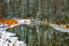 Snowy river. Photo by Aleksander Pavlovich — National Geographic Your Shot