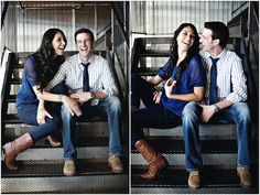 Everybody loves a man in uniform, especially Liz. Liz is a model and Billy is in the military, their chic city engagement shoot is by Visionyard Photography.