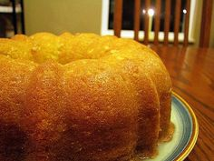 """I got this recipe from my mother, and I have to tell you that she didn't call it Drunken Rum Cake. She's a preacher's wife. She would never do that. My mother got this recipe from the L.A. Times back in the 80s. That short-cut """"cake mix"""" recipe quickly became a family favorite, but you …"""