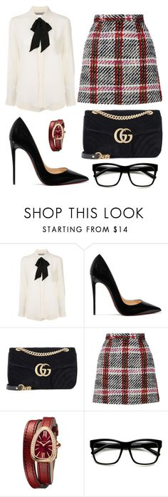 """Untitled #219"" by pattydd ❤ liked on Polyvore featuring Sportmax, Christian Louboutin, Gucci, Carven, Bulgari and ZeroUV"