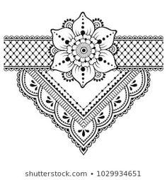 Henna tattoo flower template and border. Set of ornamental pattern… Henna tattoo flower template and border. Set of ornamental patterns in the oriental style. Estilo Mehndi, Henna Tattoo Designs, Henna Tattoos, Mehndi Designs, Henna Designs Drawing, Mandala Drawing, Mandala Tattoo, Mandala Pattern, Mandala Design