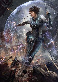 Futuristic Girl, Battle of Steel, Zack Cy