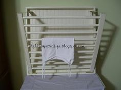 Crib railing used for drying rack