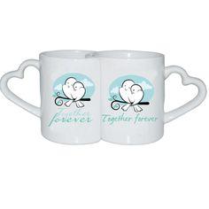 Birds Love Heart Coffee Mugs