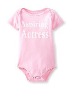 50% OFF Mini Dilascia Baby Aspiring Actress Bodysuit (Pink) #apparel #Kids