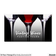 Di Vino   Vintage II Double-Sided Standard Business Cards (Pack Of 100) #wine #vineyard #sommelier #winetasting #winetastingtours #tastingtours #winebusinesscards #vintage #wineenthusiast #wineshopowners #redwine #wineglasses