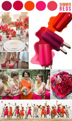HEY LOOK: COLOR INSPIRATION: SUMMER REDS -- I'm not getting married but I love these colors together!