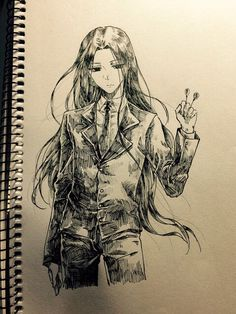 Draw Illumi Zoldyck - HUNTERxHUNTER - hxh  - anime - h x h - hunter x hunter - hisoka morou - chrollo lucilfer