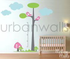 Vinyl Wall Sticker Decal Art  Height Chart Tree by urbanwalls, $69.00