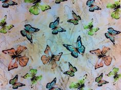 Farne & Schmetterlinge aus 100 % Baumwolle von Universalideas