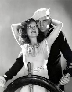 Clara Bow and Fredric March in 'True to the Navy', 1930.