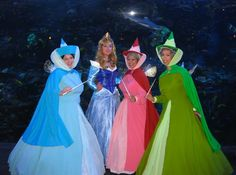 sleeping beauty cosplay - Very well done! Family Costumes, Group Costumes, Cool Costumes, Cosplay Costumes, Cartoon Costumes, Fairy Halloween Costumes, Disney Halloween, Halloween Fun, Sleeping Beauty Cosplay