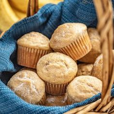 These Easy Banana Muffins are just like mom used to make! They are soft and moist and the perfect option for over-ripe bananas. Add cinnamon or top with cinnamon sugar for a fun twist. Top With Cinnamon, Cinnamon Rolls, Muffin Recipes, Cupcake Recipes, Pastry Recipes, Dessert Recipes, Lard, Mini Chocolate Chips, Recipes