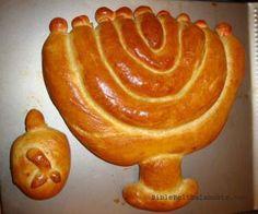 Dreidel Challah, Menorah Challah   Bible Belt Balabusta