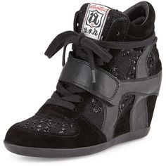 e9af0d80c64 Ash Bowie Sequined Hidden-Wedge Sneaker ( 105) ❤ liked on Polyvore  featuring shoes