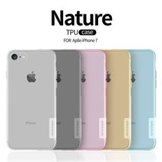 For iphone 7 Original Nillkin Nature Soft TPU Cover Case Crystal Clear Ultra Thin Phone Cases For iphone 7