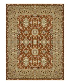 Take a look at this Rust Elm Wood Wool Rug by Loloi Rugs on #zulily today!