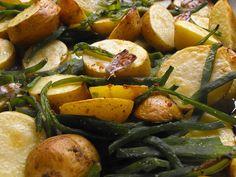 As receitas lá de casa: Batatas no forno com feijão-verde