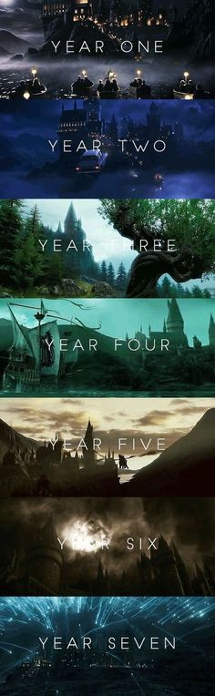 Hogwarts through the years. I love this