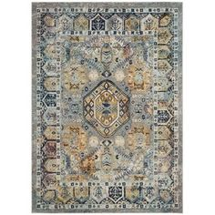 Shop for Safavieh Savannah Vintage Bohemian Grey/ Navy Rug (9' x 12'). Get free shipping at Overstock.com - Your Online Home Decor Outlet Store! Get 5% in rewards with Club O! - 23591702