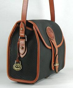 Authentic Dooney and Bourke All Weather Leather Essex Shoulder Bag British tan