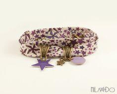 Bracelet Liberty of London Adeladja prune violet par MiLaDo sur Etsy, €15.00