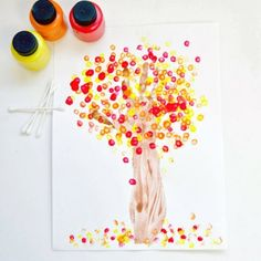 10 Best Fall Crafts For Kids...qtip leaf paint with hands traced/cut as tree trunk?