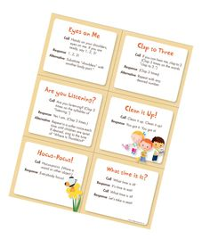 Smooth transitions for preschool with these 6 free Downloadable Transition Chant Cards http://info.mothergoosetime.com/blog/simple-sounds-trigger-happy-transitions
