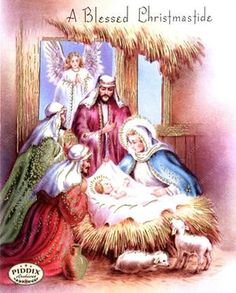 Pdxc10136 -- Christmas Manger Wise Men Virgin Mary Color Illustration Christmas Manger, Christmas Art, Vintage Christmas, Nativity Scenes, Wise Men, Holy Night, Christmas Illustration, Virgin Mary, Cross Stitch Patterns