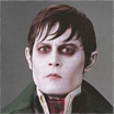"""Pixel Art by ME. Johnny Depp in """"Dark Shadows."""""""